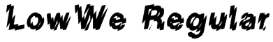LowWe Regular Font