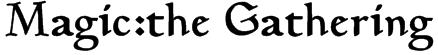 Magic:the Gathering Font