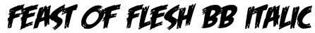 Feast of Flesh BB Italic Font