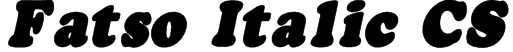 Fatso Italic CS Font