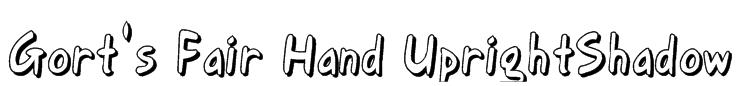 Gort's Fair Hand UprightShadow Font