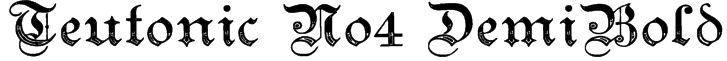 Teutonic No4 DemiBold Font