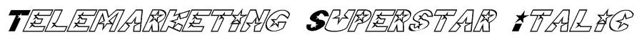 Telemarketing Superstar Italic Font