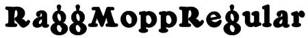RaggMoppRegular Font