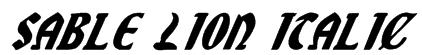 Sable Lion Italic Font