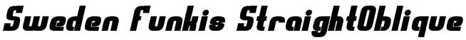 Sweden Funkis StraightOblique Font