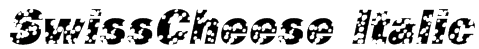 SwissCheese Italic Font