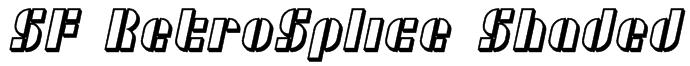 SF RetroSplice Shaded Font