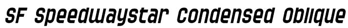 SF Speedwaystar Condensed Oblique Font