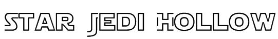 Star Jedi Hollow Font