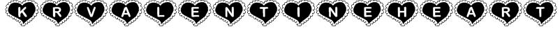 KR Valentine Heart Font