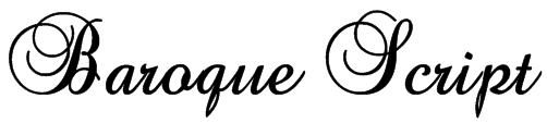 Baroque Script Font