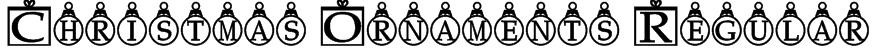 Christmas Ornaments Regular Font