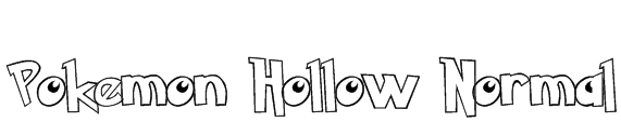Pokemon Hollow Normal Font