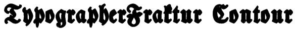 TypographerFraktur Contour Font