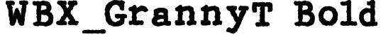 WBX_GrannyT Bold Font