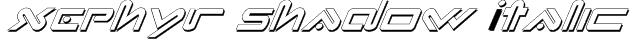 Xephyr Shadow Italic Font