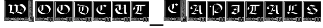 Woodcut_Capitals Font