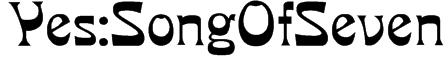 Yes:SongOfSeven Font