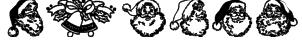 Xmas Clipart Font
