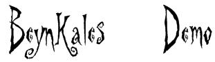 Beynkales Demo Font