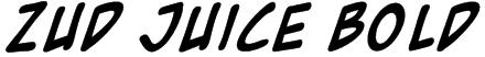 Zud Juice Bold Font