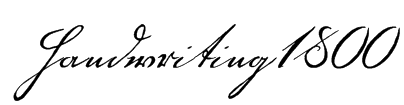 Handwriting1800 Font