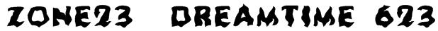 Zone23_Dreamtime 623 Font