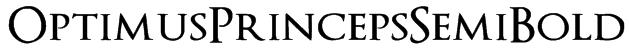 OptimusPrincepsSemiBold Font