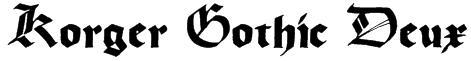 Korger Gothic Deux Font