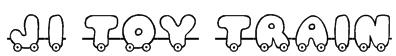 JI Toy Train Font