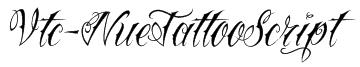Vtc-NueTattooScript Font