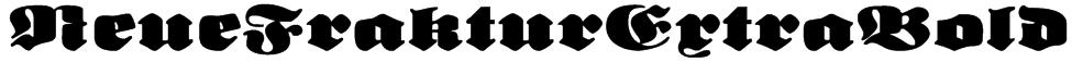NeueFrakturExtraBold Font