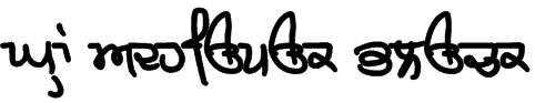 GHW Adhiapak Black Font