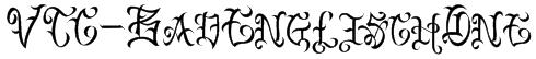 VTC-BadEnglischOne Font