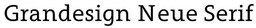 Grandesign Neue Serif Font