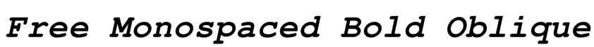 Free Monospaced Bold Oblique Font