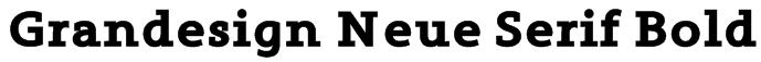 Grandesign Neue Serif Bold Font
