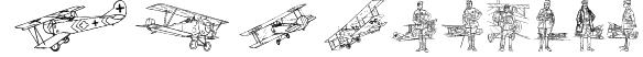 WW1 Planes Font