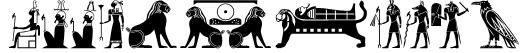 OldEgyptGlyphs Font