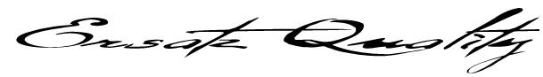 Ersatz Quality Font