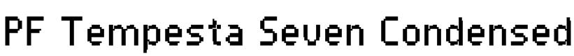 PF Tempesta Seven Condensed Font