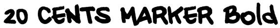 20 CENTS MARKER Bold Font