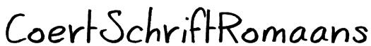 CoertSchriftRomaans Font