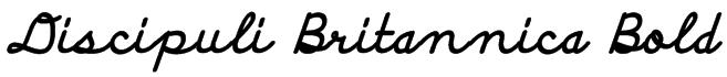 Discipuli Britannica Bold Font