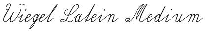 Wiegel Latein Medium Font