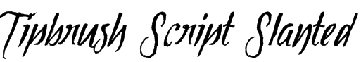 Tipbrush Script Slanted  Font