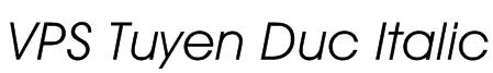 VPS Tuyen Duc Italic Font