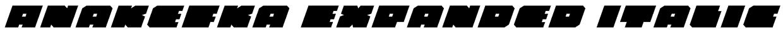 Anakefka Expanded Italic Font