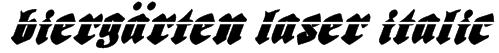 Biergärten Laser Italic Font
